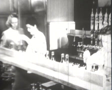 1918 - 1945 - Women Working Wartime - Laboratory - 01 Stock Footage