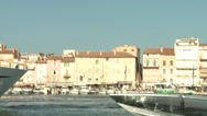 Stock Video Footage of Saint-Tropez Harbor