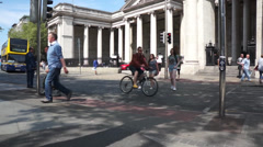 Dublin College Green - stock footage