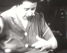 1918 - 1945 - Women Working Wartime - Stitching - 02 Stock Footage