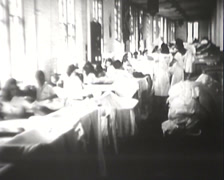 1918 - 1945 - Women Working Wartime - Stitching - 03 Stock Footage