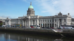 Dublin - Ireland - Customs House Building Stock Footage