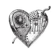 Mechanical heart - stock illustration