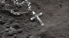 Loss of Faith, Cross on Dry Ground, Religion Concept HD Stock Footage