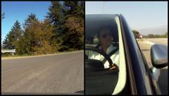By car, composition Stock Footage