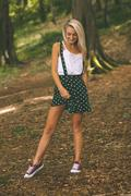 Smiling gorgeous blonde standing Stock Photos