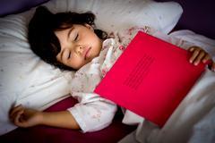 Little girl sleeping Stock Photos