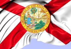 Flag of florida Stock Illustration