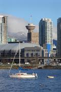 Anchored in False Creek, Vancouver - stock photo