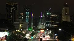 Time lapse of Sao Paulo city Stock Footage