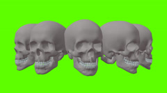 Ring of Skulls in different positions Stock Footage