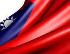 flag of taiwan - stock illustration