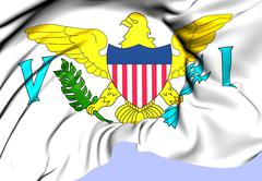 virgin islands of the united states flag - stock illustration