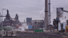 Hoogovens Tata Steelworks in IJmuiden Stock Footage