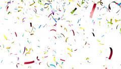 Colorful confetti - stock footage