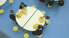 School children in catering Stock Footage