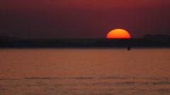Jet ski sunset HI 2 Stock Footage