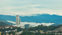 Beautiful time lapse of mist on the tropical hills. Stock Footage