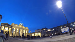 Brandenburg Gate in Berlin, Germany (Time Lapse) Stock Footage