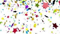 Colorful stars confetti - stock footage