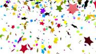 Stock Video Footage of Colorful stars confetti