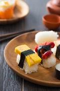 fresh sushi traditional japanese food - stock photo