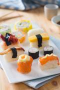 Fresh sushi traditional japanese food Stock Photos