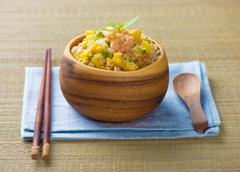 Stock Photo of chinese fried rice , or nasi goreng popular cusine in asia