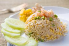 thai pinapple fried rice food - stock photo