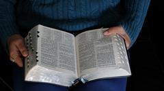 Teen Reading Scriptures Stock Photos
