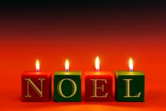 Noel candles Stock Photos