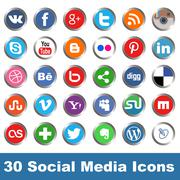 Social media icons Stock Illustration