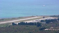 Airport runway Stock Footage