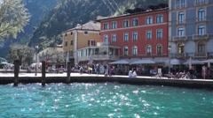Riva Del Garda - Lake Garda - Italy Stock Footage