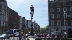 Dublin Street - O'Connell Bridge South - stock footage