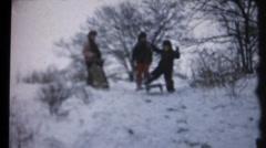 Winter sledding Stock Footage