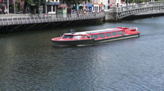 Dublin Water Taxi - stock footage
