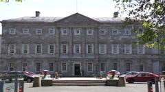 Irish Parliament - Dublin - Dail Eireann - stock footage