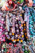 Colorful beads according to the art of contemporary mountaineers from zakopan Stock Photos
