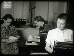 Women Working 1930s Stock Footage