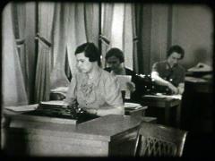 Women Typing on Typewriters 1930s-1940s - stock footage