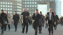 City Commuters 1 Sunny Winter Morning - stock footage