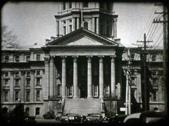Historic Capital Building (16mm) with Model B Cars Stock Footage