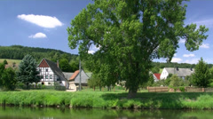 Mulde River near Rochlitz - Saxony, Germany - stock footage