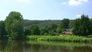 Stock Video Footage of Mulde River near Leipzig - Saxony, Germany