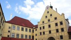 Castle trausnitz, landshut, bavaria Stock Footage