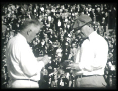 1930s Football Referees (16mm) Stock Footage