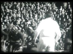 1930s Football Game (16 mm) - stock footage