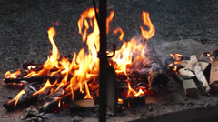 Campfire, fire Stock Footage