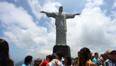 Stock Video Footage of Christ the Redeemer, postcard of Rio de Janeiro.